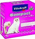 Vitakraft Compact Katzenstreu, Ton Pure White für Katzen