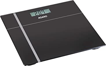 Agaro WS503 Glass Top Electronic Personal Scale(Black)