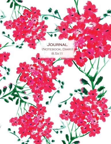 Journal (Notebook, Diary) 8.5x11: Red Flowers, Composition Notebook College Ruled, Lined Journal for School, College and University, Thick Cardstock Matte Cover (Journals to Write in for Women) (Cardstock Journal)