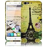 ZTE Blade V6 La Tour Paris Eiffelturm Silikon Schutz-Hülle weiche Tasche Cover Case Bumper Etui Flip smartphone handy backcover Schutzhülle Handyhülle thematys®
