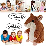 Talking Hamster Plush Toy Grey Hamster Electronic Hamster Repeats What You Say Mimicry Hamster Plush Animal Toy For Boy And Girl Birthday Christmas Gift (Original-Brownish)