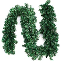 WEKNOWU Guirnaldas para Decoraciones navideñas, 8.8 pies Guirnaldas para Decoraciones navideñas con Agujas de Pino