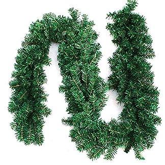 WEKNOWU Guirnaldas para Decoraciones navideñas, 8.8 pies Guirnaldas para Decoraciones navideñas con Agujas de Pino Artificiales para la Fiesta de Bodas