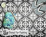 GIBRALTAR FLIESE Wand Möbel Fußboden Schablone für Malerei - X Klein