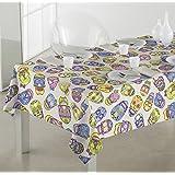 Sabanalia - Mantel de tela antimanchas Jalisco (disponible en varias medidas) - 140 x 140, multicolor