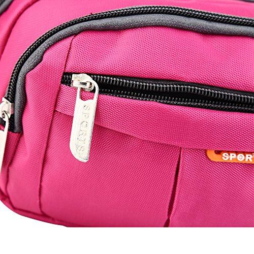 Wasserabweisend Wallet Taille Bag Travel Running Pack Gürteltasche rose