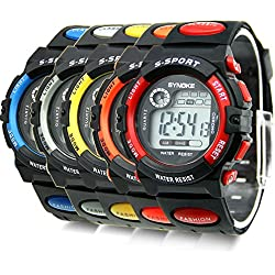 Estone® Mens Boys Daily Water Resistant Alarm Date Quartz LED Digital Wrist Watches