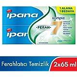 Ipana Komple Bakım Diş Macunu + Ağız Bakım Suyu Ferahlatıcı Temizlik (65 ml + 65 ml) 1 Alana 1 Bedava Paketi