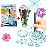 MC CHENMEI® Espirógrafo Deluxe de diseño conjunto con 12 colores de los juguetes educativos de la pluma Dibujo juguetes conjunto espirógrafo para adultos y niños Spirograph
