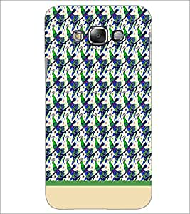 PrintDhaba Peacock pattern D-1913 Back Case Cover for SAMSUNG GALAXY A7 (Multi-Coloured)