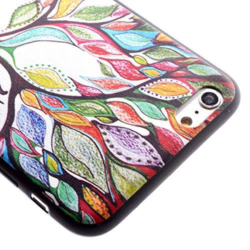 Felfy Hülle für iPhone 6,iPhone 6S Case Crystal Hülle Klare Ultradünne Silikon Gel Schutzhülle Durchsichtig Muster Kristall Transparent TPU Silikon Schutz Handy Hülle Case Tasche Etui Bumper für Apple Farbige Bäume