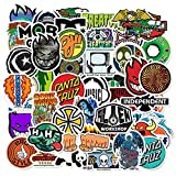 AXHZL Skateboard Fashion Brand Logo Waterproof Sticker For Luggage Car Guaitar Skateboard Phone Bicycle Laptop Stickers 50 Pcs