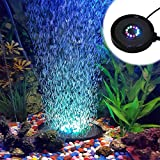 GeeKeep Aquarium Fish Tank Air Curtain Bubble Generator Bubble Air Aerating Stone with 12 Submersible Waterproof Color Changing RGB LED Lights UK Plug