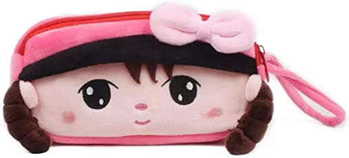GRAPPLE DEALS Cute Super Soft Pencil Pouch, Kit for School Going Kids, Tuition, Make Up Pouch for Girl's (Girl Style-2)