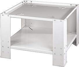 Xavax stabiles Waschmaschinen-Untergestell (60x60 cm, Universal-Sockel mit Bodenfach, Erhöhung 40 cm, auch für Trockner oder Kühlschränke) weiß