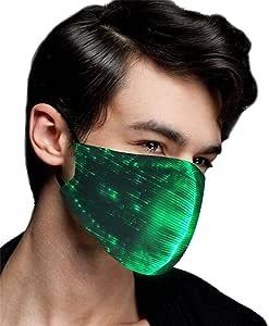 LED Flashing Mask 7Colors Luminous Light for Halloween Rave Mask Music Party UK*