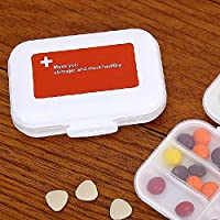 MIUSON Tablettenbox Mini 8 Cells Dispenser Aufbewahrungsbox Faltbarer Vitaminbehälter aus Kunststoff preisvergleich bei billige-tabletten.eu