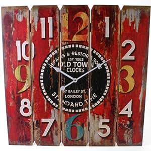 Orologio da parete in legno il design citt vecchia for Orologio legno amazon