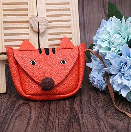 Dairyshop Vestito sveglio della ragazza di Fox ha modellato il corpo della borsa della borsa del sacchetto di spalla del messaggero della scuola dei bambini (caffè) arancio