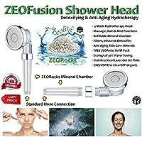 zeofusion entgiftende & Anti-Aging-Dusche Kopf mit nachfüllbar Mineral Chambers & 3Modus HYDROTHERAPIE Jet Einstellungen... preisvergleich bei billige-tabletten.eu
