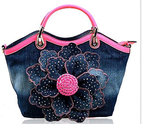 Xinmaoyuan Borse donna denim borsa Diamond Rose