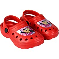 Clogs Girls Minnie Mouse Disney | Glittered | 2 Colors | Red and Pink | Sizes from 6,5 to 11 Child