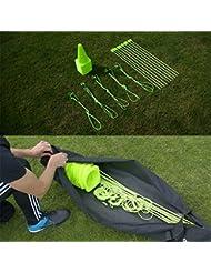 QUICKPLAY PRO Conjunto de Agilidad + Velocidad: Postes de agilidad para múltiples deportes | Conos | Vallas de velocidad | Fútbol Tenis | Valla para el público | Pista de entrenamiento con obstáculos