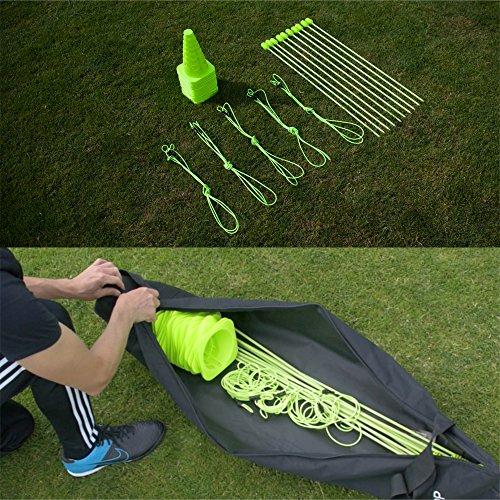 QUICKPLAY PRO Set Velocità + Agilità: Paletti per l'allenamento dell'agilità multi-sport | Coni | Ostacoli (Agilità Sport Cono)