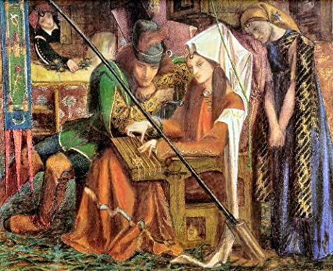 The Tune of the Seven Towers 1857 - Dante Gabriel Rossetti - Aluminium Wall Art 15 x 20cms