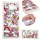 E-Mandala Samsung Galaxy A3 2016 Hülle Glitzer Flüssig Liquid Glitter Case Cover Handyhülle Schutzhülle Transparent mit Muster Durchsichtig Tasche Silikon - Einhorn Unicorn Rosa Pink