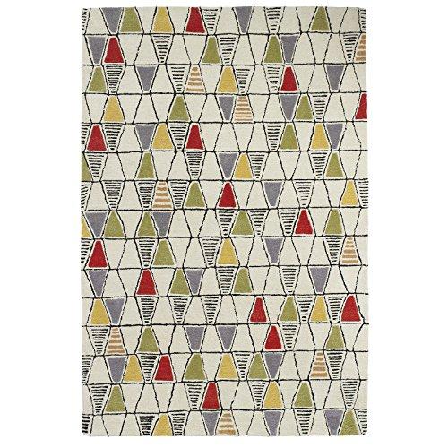 HomeLinenStore Designer-Stil Umwelt inspiriert Prism Teppich, Creme/Multi, Cream/Multi, 150 x 230 cm - Prism Multi Teppich
