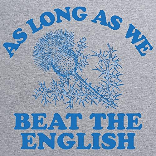 Scotland Beats England Rugby T-Shirt, Herren Grau Meliert