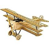 Dancing Wings Hobby Kit de construction en bois de balsa découpé au laser Fokker DRI - Maquette d'avion - Puzzle 3D en bois à