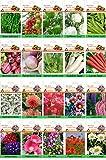 alkarty winter 10 vegetable and 10 flower seeds kit-3 (20 seeds each) Seed