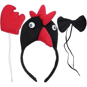 LUOEM 3Pcs SET Cappello Cravatta Coda di Cavallo per costume di ... a7be711b9777