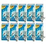 ECD Germany 10er Pack Halogen Lampe H1 55W 4000K 12V mit E4 Zulassung Glühbirne Glühlampe Birne Scheinwerferlampe Autolampe