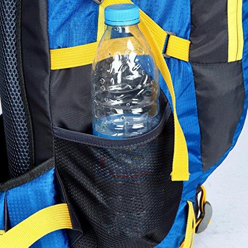 HWJDK Wandern Rucksack, 40L Outdoor Travel Sport Rucksack für junge Menschen Männer und Frauen Camping Bergsteigen Orange