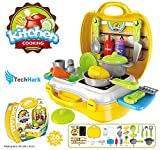 #5: Techhark Ultimate Kid Chef's Bring Along Kitchen Cooking Suitcase Set - 26 Pieces