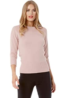 Ladies Autumn Winter Round Neckline Long Sleeve Chunky Knit Fashion Lightweight Cosy Smart Casual Sweaters Roman Originals Women Butterfly Embroidered Jumper