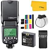 Godox V860II-N 2.4G TTL HSS 1/8000s con Li-on Batería Camara Flash Speedlite para Nikon D500 D7200 D5500 D5300 D300 D300S D32