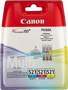 Canon 2934B011 Cartouche d'encre Bleu, Rose, Jaune