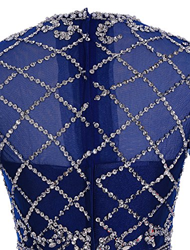 Find Dress Elégant Robe de Soirée Longue Cérémonie Femme pour Mariage Paillette Robe de Cocktail Manches Longue Rétro Vintage Robe Mère Noel Party Grande Taille en Satin avec Sequins Bleu