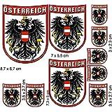 Escudo Cartel Juego Austria con águila etiqueta