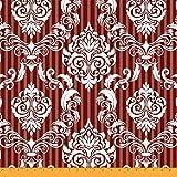 Soimoi Rot Baumwolljersey Stoff Streifen & Vektor-Design