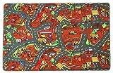 Spielteppich Straße Kinderteppich Baustelle - 140x200cm, Anti-Schmutz-Schicht, Auto-Spielteppich für Mädchen & Jungen, Spielmatte Fußbodenheizung geeignet