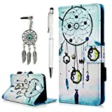 J5 2017 Case YOKIRIN Galaxy J5 Leather Wallet Book Card Case Cover Pouch with Card Slot and Stand Feature Case For Samsung Galaxy J5 2017 Dreamcatcher