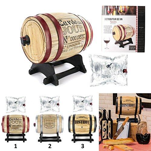 Distributeur Tonneau de Vin 5 Litres Mod1 Le Caviste - Décoration Boisson - 666