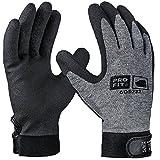 Pro Fit 12 Paar - HPT-Polymer-Handschuh, Grau/Schwarz, mit Klettverschluss 9