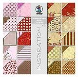 Ursus 70880099 - Scrapbook paper Block Liebe / Nostalgie, ca. 30,5 x 30,5 cm, 20 Blatt sortiert in 20 Motiven