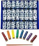 Ensemble de 8 notes bleues en flocon de neige Craquelins de Noël en argent par Crackers Ltd (Cat F1)